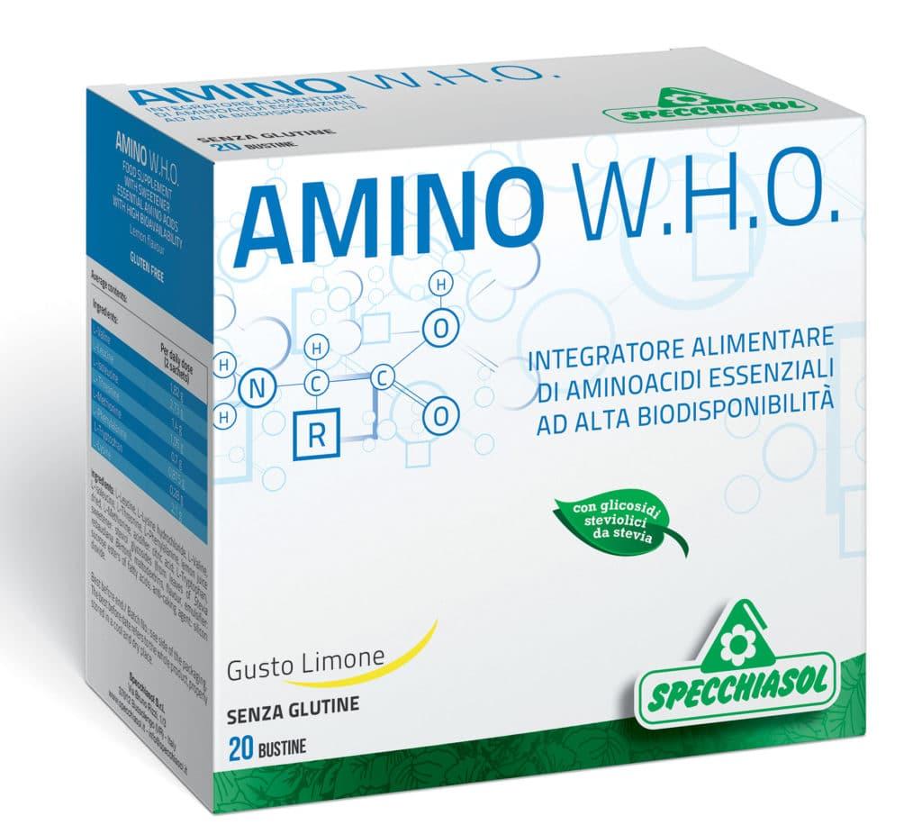 Integratore AMINO W.H.O. Utile per una veloce e corretta riabilitazione