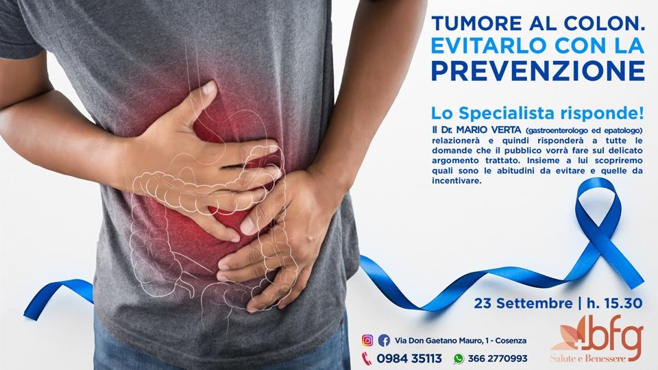 prevenzione cancro al colon Dott. Mario Verta